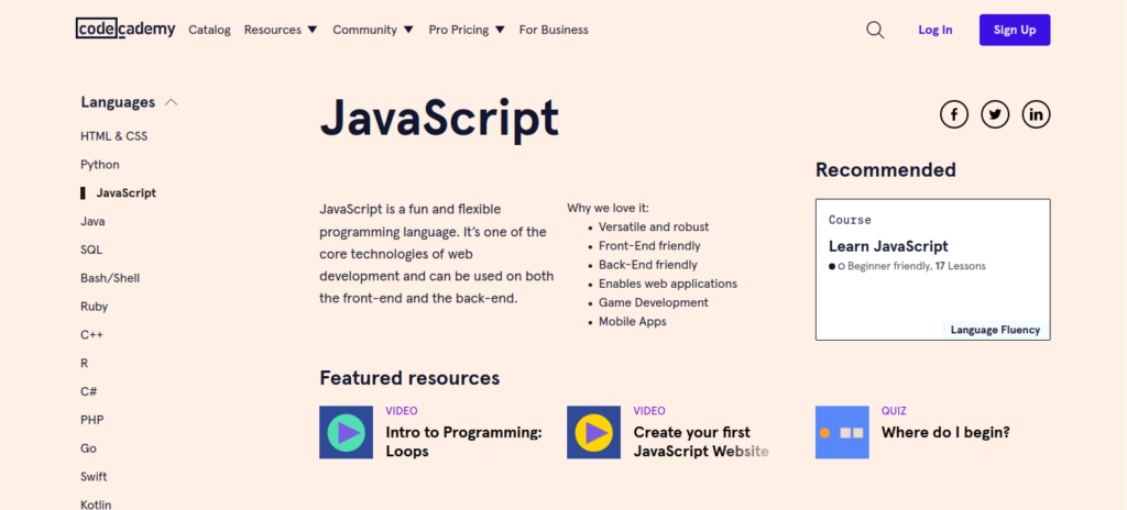 Обучение джаваскрипту на платформе кодекадеми